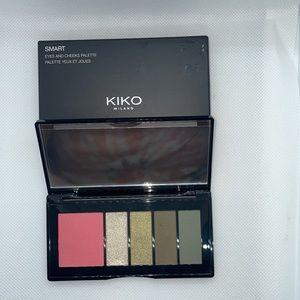 KIKO MILANO palette with 1 blush and 4 eyeshadows